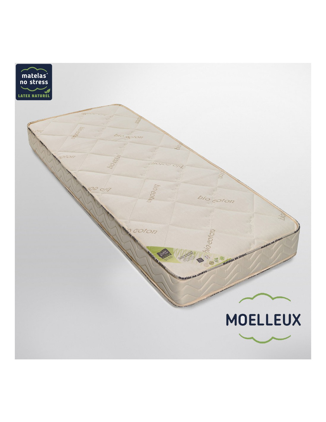 matelas bio moelleux en latex naturel. Black Bedroom Furniture Sets. Home Design Ideas