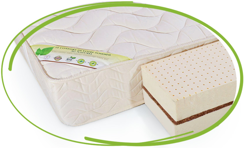 matelas 100 % latex naturel 90x200 prestige