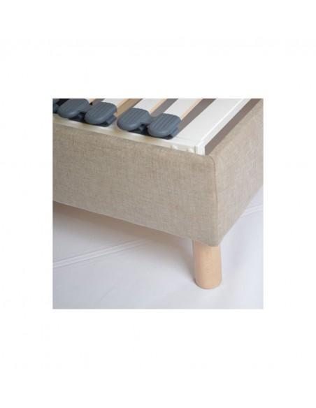 Sommier lit electrique de relaxation habillé tissu personnalisable 120x190