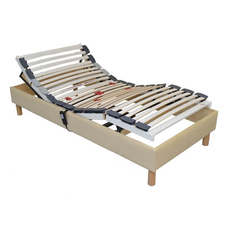 sommier lit electrique 90x190 de relaxation. Black Bedroom Furniture Sets. Home Design Ideas