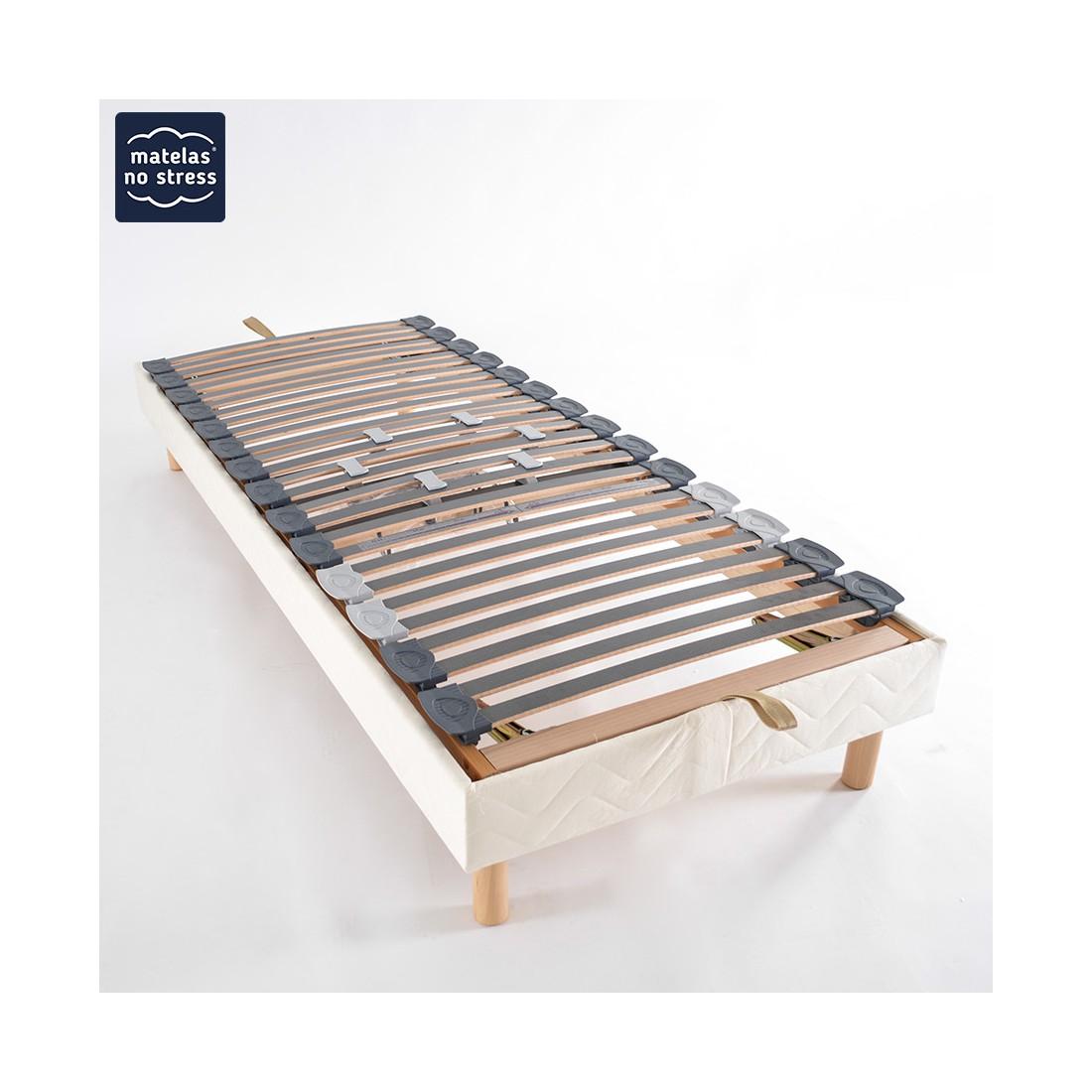 sommier manuel de relaxation 90x200. Black Bedroom Furniture Sets. Home Design Ideas
