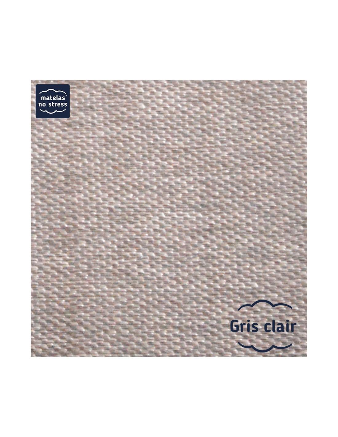 sommier 100x190 tissu d co dimension du sommier d co 100x190 coloris tissu gris clair. Black Bedroom Furniture Sets. Home Design Ideas