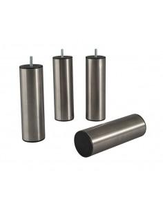 4 Pieds inox cylindrique à visser