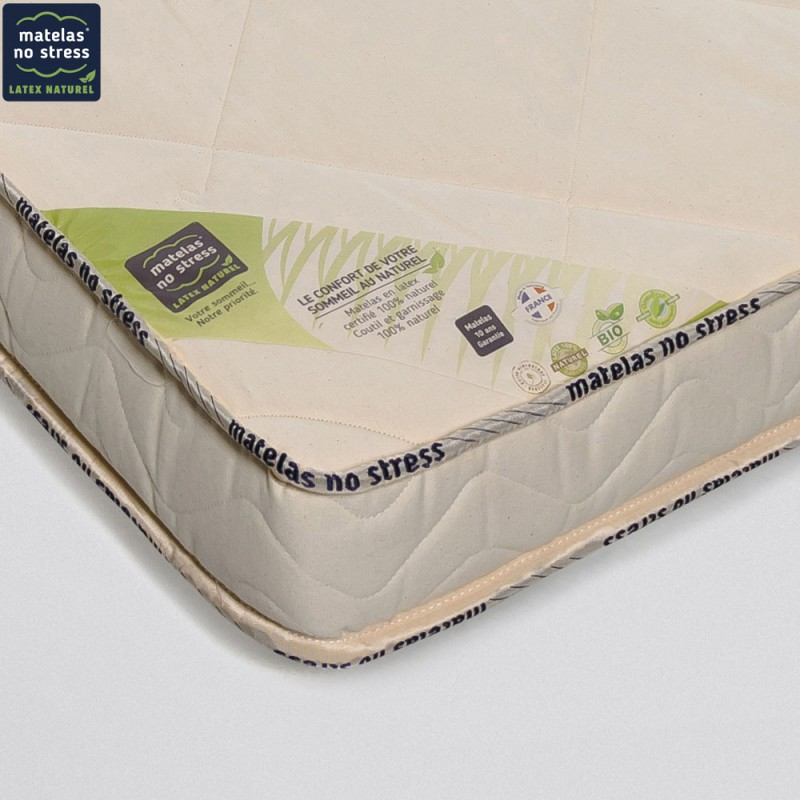 Matelas Latex Naturel 140x190 Bio Charme Medium 14 Cm