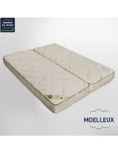Matelas Moelleux Élégance 70+70x190 18 cm