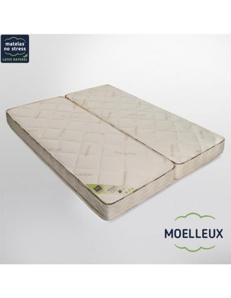 Matelas Moelleux Élégance 80+80x200 en 18 cm
