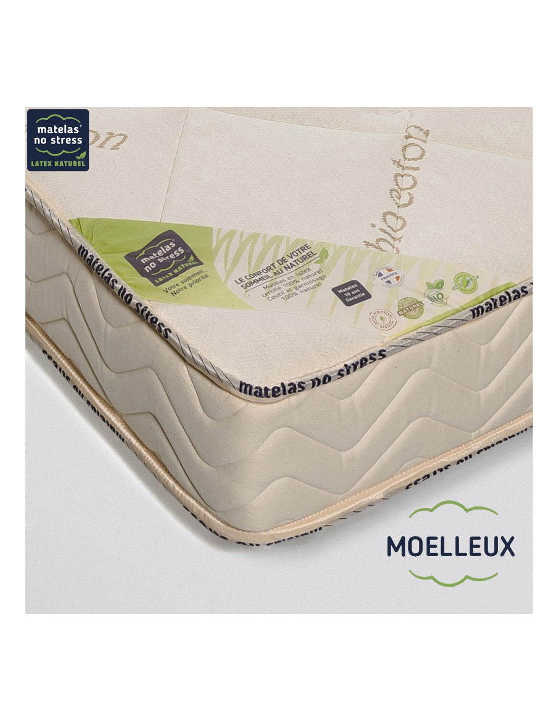 matelas moelleux 2x80x200 en latex naturel. Black Bedroom Furniture Sets. Home Design Ideas