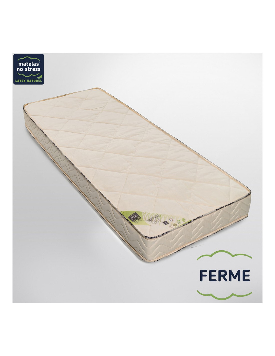 matelas bio latex naturel 80x200 l gance ferme 18 cm. Black Bedroom Furniture Sets. Home Design Ideas