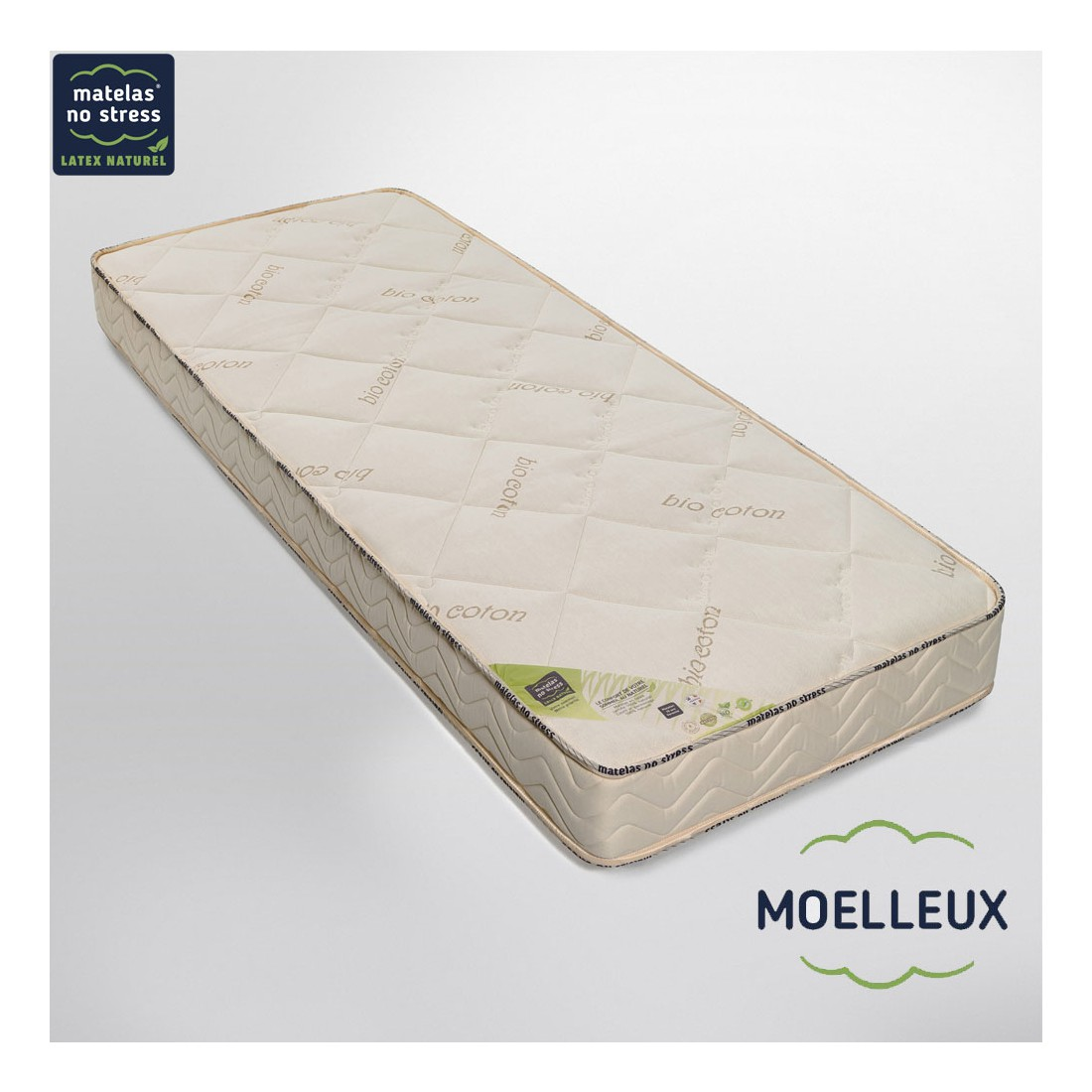 matelas moelleux en latex naturel 160x200. Black Bedroom Furniture Sets. Home Design Ideas