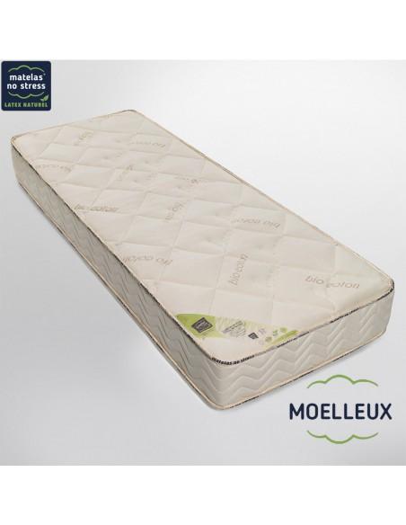 Le matelas bio latex naturel moelleux haut gamme écologiquemoelleux Privilège 1 personne