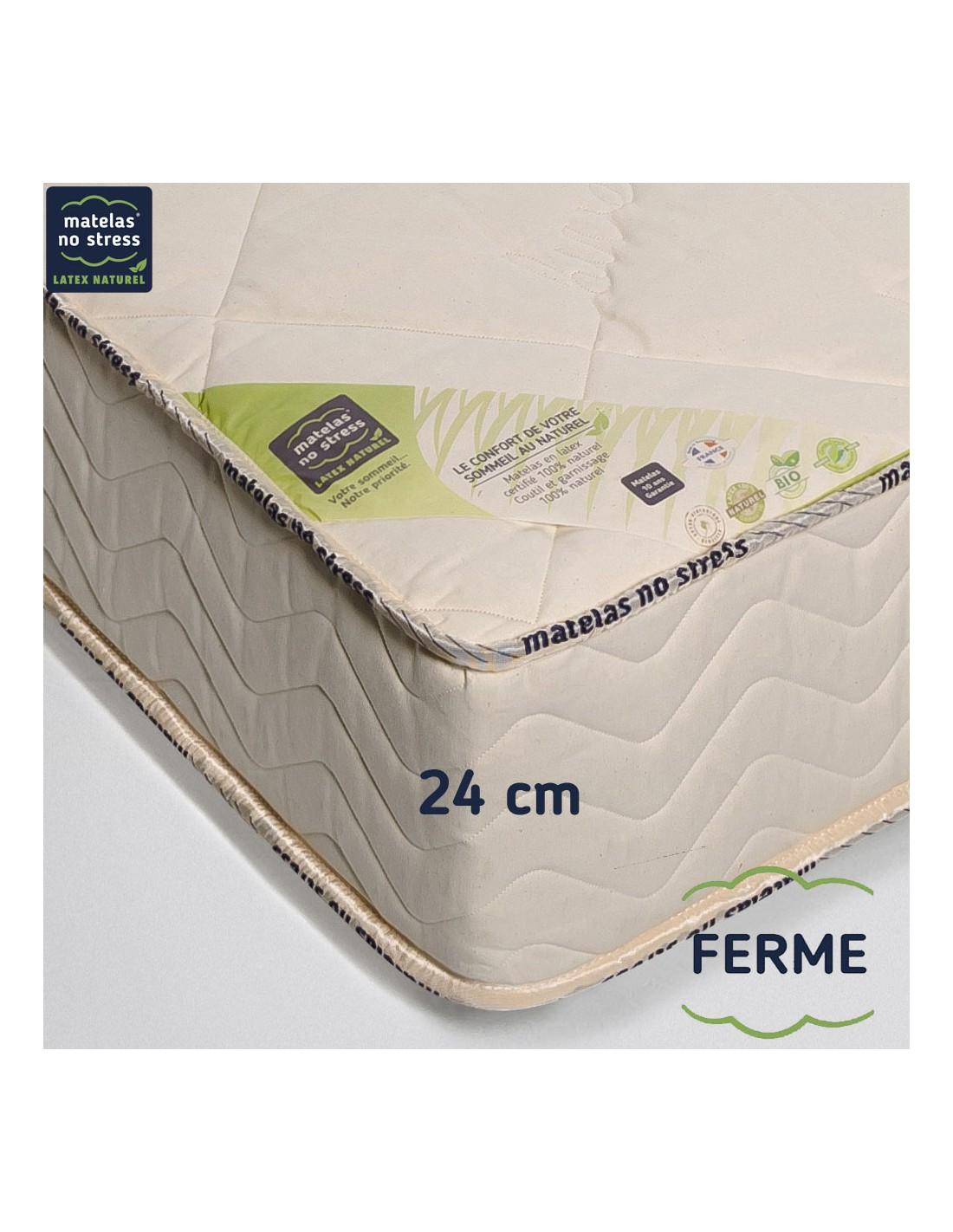 matelas latex bio naturel 80x200 prestige ferme 24 cm. Black Bedroom Furniture Sets. Home Design Ideas