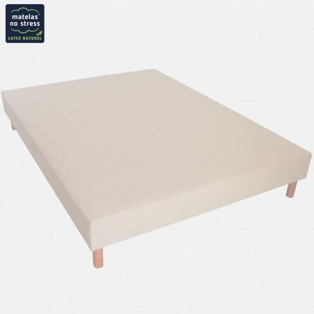 Sommier naturel tissu lin en une ou deux parties 140x200