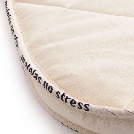 Matelas couffin ovale bio fibres de coco son arrondie