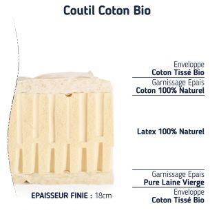 matelas bio latex naturel ferme écologique 18cm sa composition