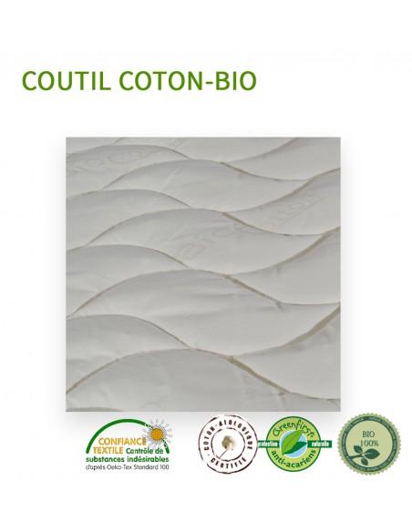 Matelas Bi tête de relaxation 160x190 Bio latex naturel Privilège ferme 21 cm