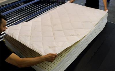 Prépation du matelas latex naturel