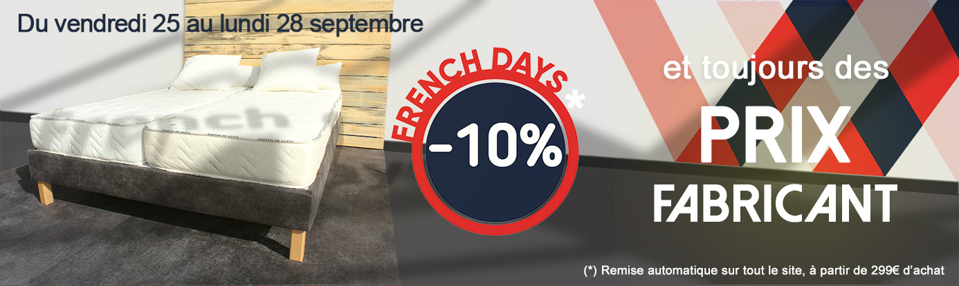 promo matelas french days